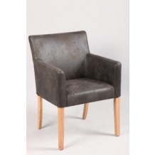 Fauteuil  microfibre grise avec accoudoir  &quot;Mate&quot; 