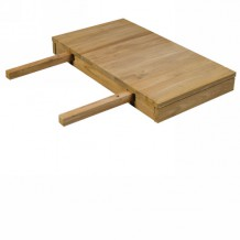 Allonge de 40 cm pour table de 80cm en teck massif bross &quot;Borno&quot; Casita