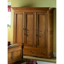 "Armoire pin massif 3 portes ""Cottage"""