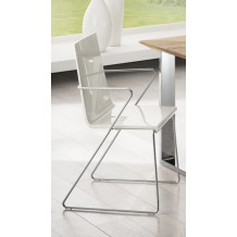 "Lot 2 chaises PVC ""Simon"""