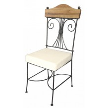 Chaise en fer forg et chne massif &quot;Antique&quot;