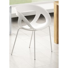 Lot de 2 chaises pvc design &quot;Nomie&quot;