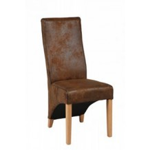 Chaise microfibre marron