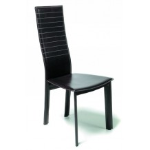 "Lot 2 chaises moderne chocolats ""Uranus"""