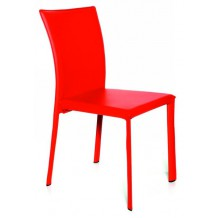 Lot de 2 chaises moderne rouge &quot;Etoile&quot;