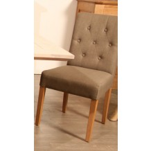 Chaise assise tissu taupe