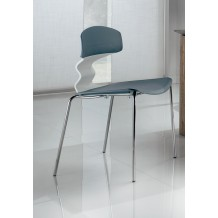 Lot de 4 chaises pvc design &quot;Tio&quot;
