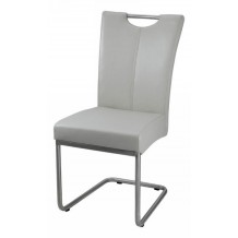 Chaise inox grise &quot;Flora&quot;