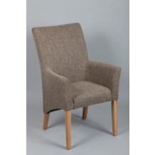Fauteuil tissu gris avec accoudoir &quot;Mati&quot; 