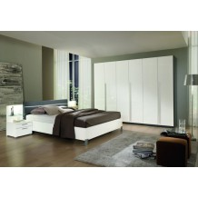 Chambre  coucher moderne blanche/grise 160x200 &quot;Romane&quot;