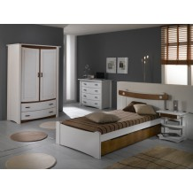 "Chambre enfant pin massif ""Saga"" option commode"