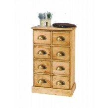Commode 8 tiroirs pin massif