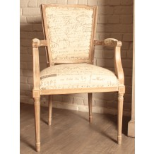 Fauteuil louis XVI criture &quot;Chateau&quot;