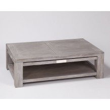 "Table basse en teck blanchi ""Jaipur"""