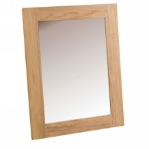 Miroir encadrement bois teck massif bross &quot;Borno&quot; Casita 110x85cm
