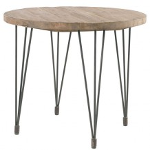 "Table ronde pin massif ""Nola"" 90cm"