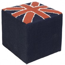 "Pouf carré drapeau anglais ""London"""