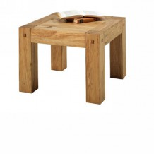 "Table basse carré chêne massif huilé ""Lodge Casita"""