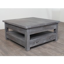 Table basse carre chne massif &quot;Bella&quot;