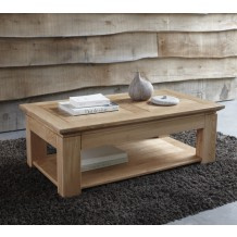 "Table basse chêne massif ""Stockholm naturel"" 120cm"