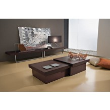 "Table basse cube moderne marron ""Antoine"" 60cm"