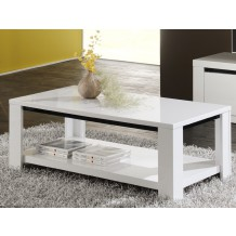 Table basse laqu double plateaux &quot;Eden&quot;