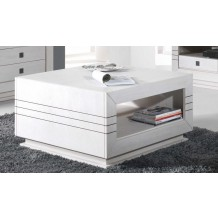 Table basse carre chene blanc &quot;Eclat&quot;
