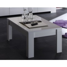 Table basse moderne laqu blanc &quot;Avril&quot;