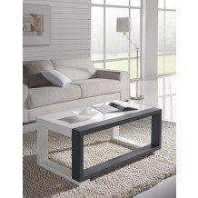 Table basse blanche/cendre