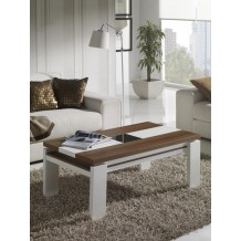 Table basse noyer/Blanc