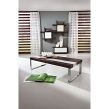 Table basse rectangulaire marron/blanche &quot;Yvons&quot; 110cm