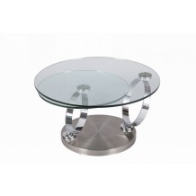 Table basse verre moderne &quot;Cristal&quot;