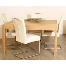 "Table carrée frêne massif  ciré""Hartland"" Casita"