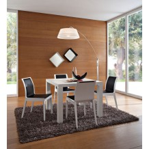 Table de repas carre blanche &quot;Romy&quot; 100cm