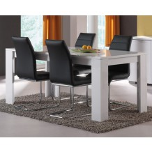 Table moderne blanc laque &quot;Bloom&quot; 180cm