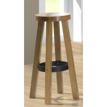 Tabouret de bar chne massif &quot;Lorraine&quot;