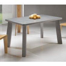 Table repas chne massif pied inclin &quot;Bibido4&quot;