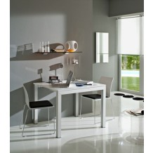 "Table blanche modulable ""André"" 181cm"