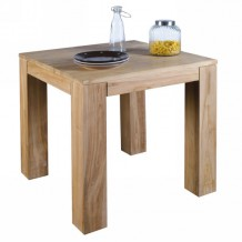 Table carre teck massif bross &quot;Borno&quot; Casita 80cm