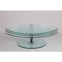 Table en verre moderne modulable &quot;Spatio&quot;