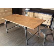 Table de repas en teck massif &quot;Loft&quot; 150cm