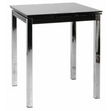 Table de bar Moderne noire avec allonges 74cm