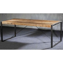 "Table rectangulaire  fer et accacia ""LOFT"" de 140 à 220 cm"