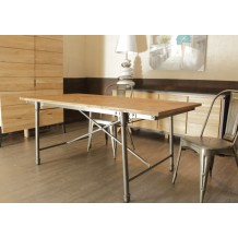 Table de repas en teck massif &quot;Loft&quot; 220cm