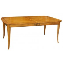 "Table rectangulaire merisier massif ""Bertille"" 180cm"