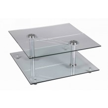 Table basse carre verre &quot;Cristal&quot;