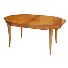 "Table ovale merisier massif ""Bertille"" 165cm"
