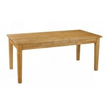 Table de ferme pin massif carrée 180cm