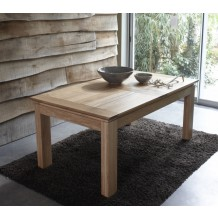 Table rectangulaire + 2 allonges chne massif &quot;Stockholm naturel&quot; 160cm