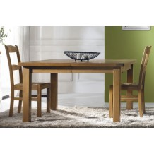 Table carre chne massif &quot;Bianca&quot; 135cm